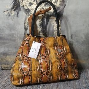 BRAND NEW! BIG BUDDHA SNAKESKIN HANDBAG!